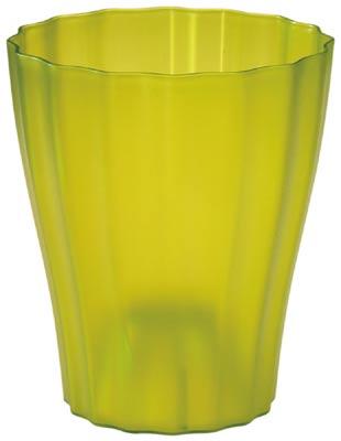 Obal na květináč Ola -13 cm průsvitná zelenkavá