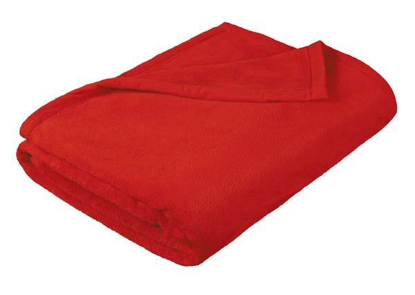 Deka Korall 200 x 230 cm, červená