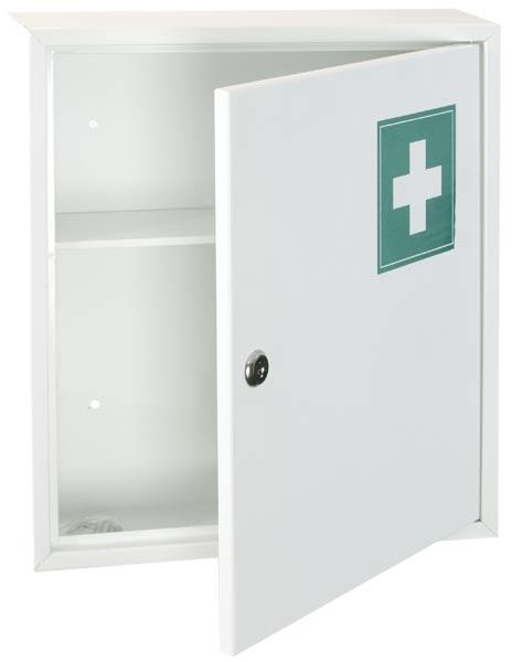 Lékárnička plechová bez výbavy 310 x 360 x 100 mm