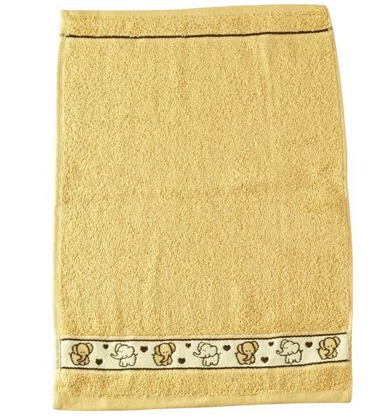 Dětský ručník Fraza - slon sv. hnědý