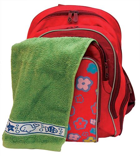 Dětský ručník Fraza - rybky zelený