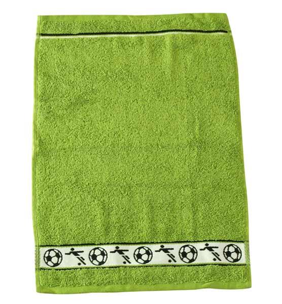 Dětský ručník Fraza - fotbal zelený