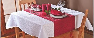 Damaškový ubrus Linda - vínová, 80 x 80 cm