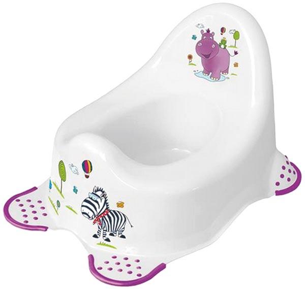 Dětský nočník s protiskluzem Hippo bílá, OKT