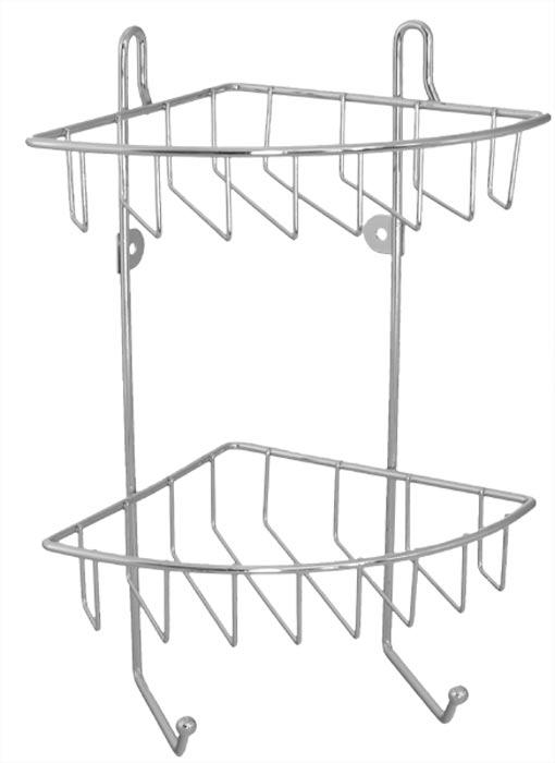 Polička rohová dvoupatrová 30 x 22,5 x 16,8 cm