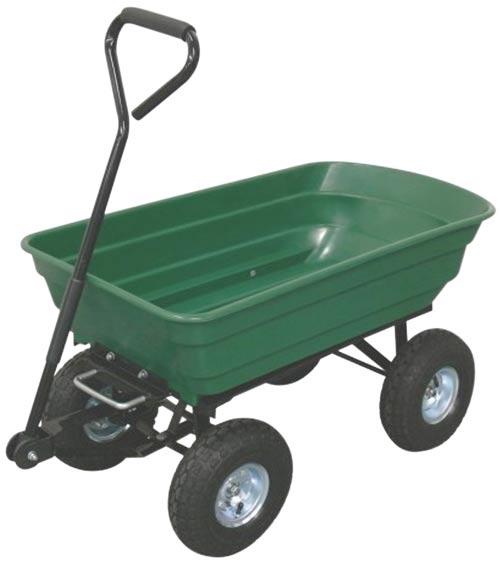 Ruční zahradní vozík sklápěcí, korba 70 L