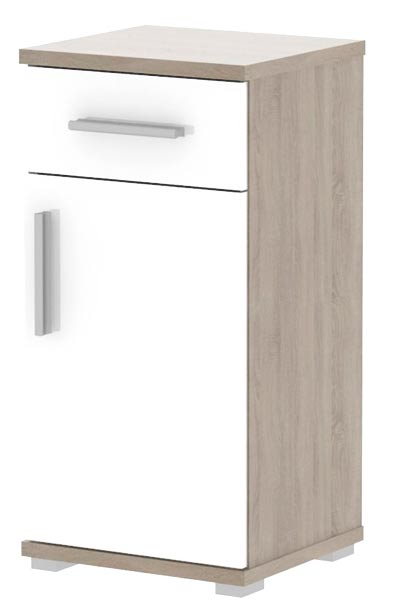 Spodní skříňka LI03, sonoma sv./ bílá lesk