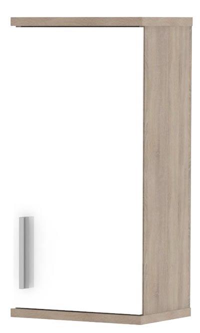 Horní skříňka LI04, sonoma sv./ bílá lesk