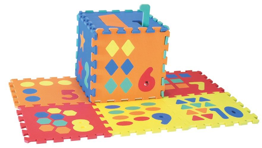 Měkké puzzle čtverce 30 cm, počítání