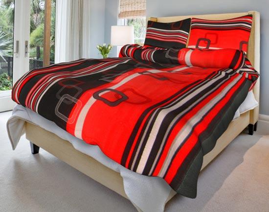Povlečení na 2 postele bavlna Tonda červený 140x200 70x90, Smolka