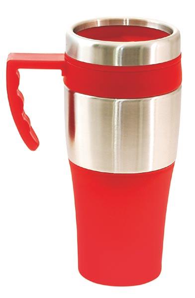 Termohrnek 375 ml, červený, Donnie