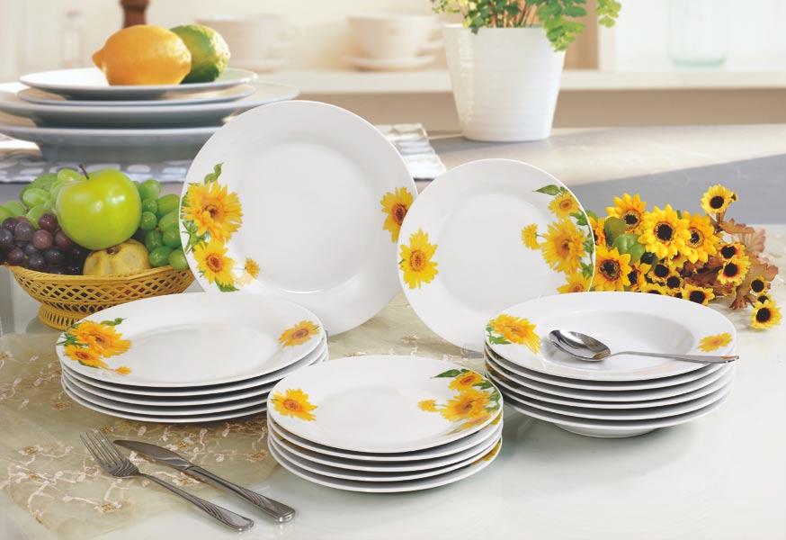Jídelní sada talířů Sunny 18 dílů