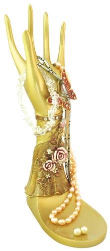 Stojánek na šperky a řetízky Ruka 22 cm