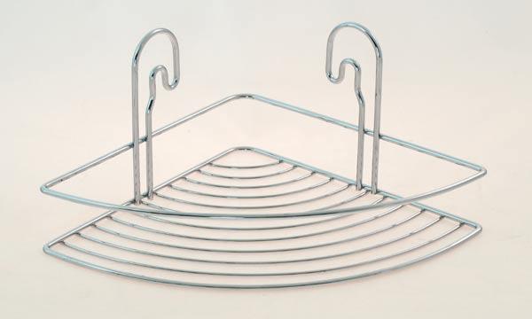 Závěsná drátěná rohová polička do koupelny STICK