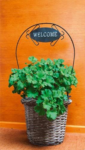 Květináč Welcome 26x20x63 cm, šedý