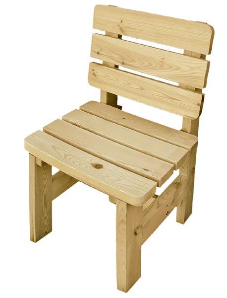 Zahradní židle z masivu ROŽMBERK