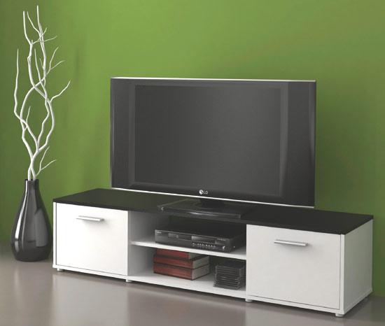 Televizní stolek Tv ZU01 bílá / černá