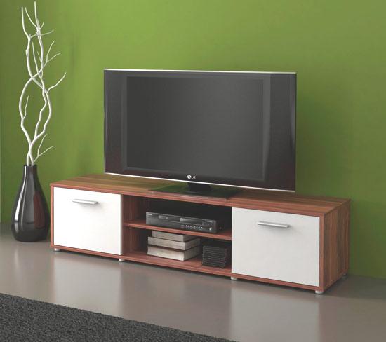Televizní stolek Tv ZU01 švestka / bílá
