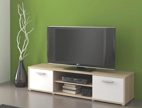Televizní stolek Tv ZU01 sonoma sv. / bílá