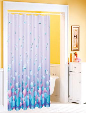 Koupelnový závěs textilie 180 x 180 cm, fialový