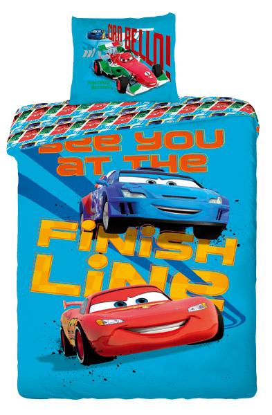 Cars blue - bavlna 1 + 1