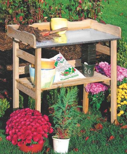 Zahradní pracovní stolek pro sázení 80x76x40 cm