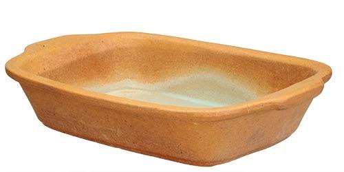 Zapékací miska keramická 21 x 15 cm, písková