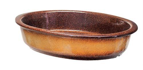 Zapékací miska keramická 32 x 22 cm, hnědá