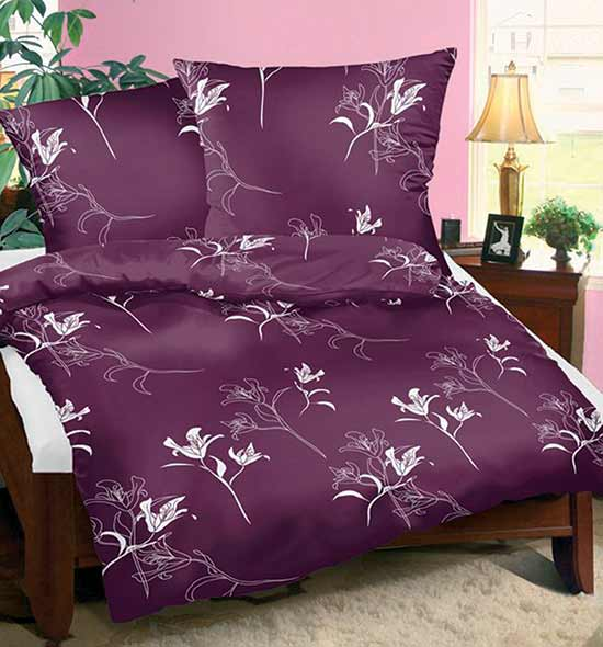 Povlečení bavlna na 2 postele Tamara fialová 140x200 70x90, Smolka