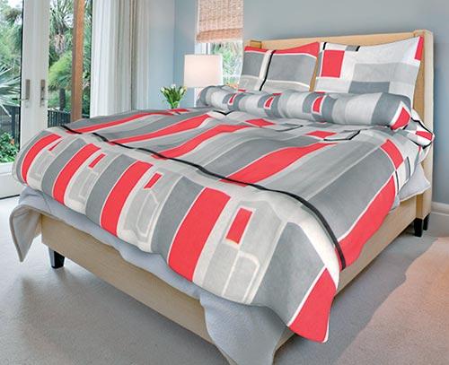 Povlečení bavlna na 2 postele Omar šedý 140x200 70x90, Smolka