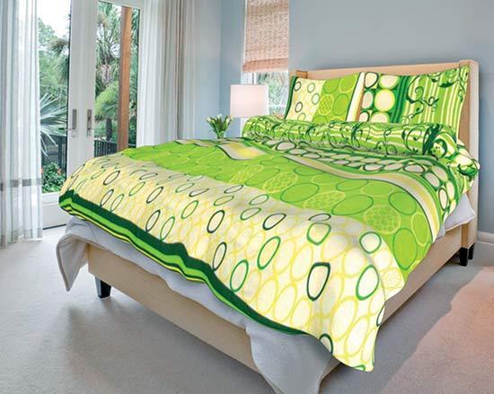 Povlečení bavlna Řehoř zelený 140x200 70x90, Smolka