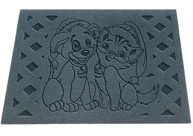 Rohožka ke dveřím Pejsek a Kočička 40 x 60 cm