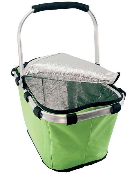 Nákupný košík skladací so zipsom termoizolačné 472 Termo 43 x 28 x 23 cm, zelená