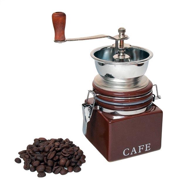 Mlýnek na kávu, porcelán, nerez