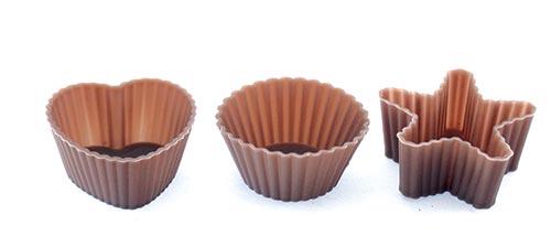 Silikonová forma na pečení mini muffiny 32 ks, hnědá