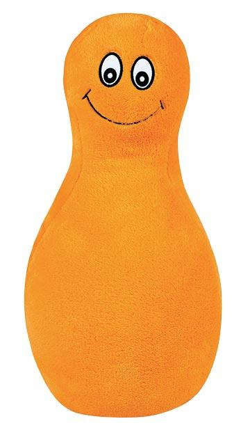Polštářek - plyšák Kuželka 45 x 30 cm, oranžová