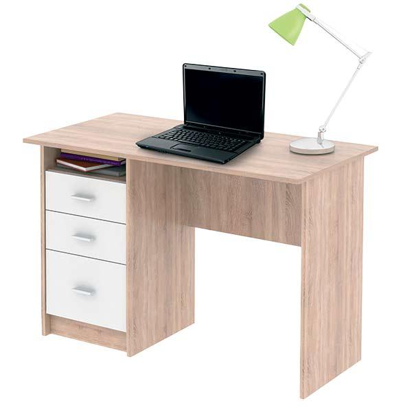 Počítačový stůl Simon sonoma sv. / bílá