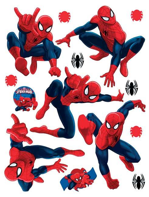 Samolepící dekorace na zeď DK1713 Disney Spiderman, 65 x 85 cm