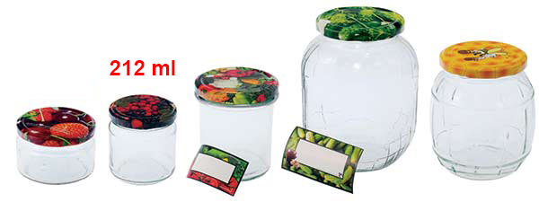 Zavařovací sklenice 212 ml se šroubovacím víčkem 66, 6 ks