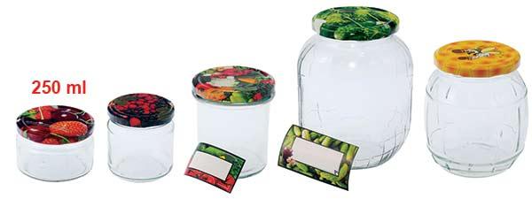 Zavařovací sklenice 235 ml se šroubovacím víčkem 82, 6 ks, Biowin