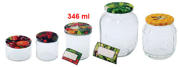 Zavařovací sklenice 346 ml se šroubovacím víčkem 82, 6 ks