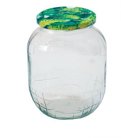 Zavařovací sklenice 900 ml se šroubovacím víčkem 82, 6 ks + etikety
