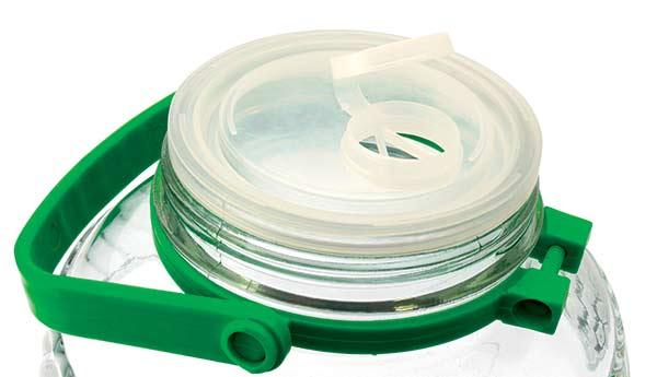 Nakládací nádoba 10 L sklo + kleště