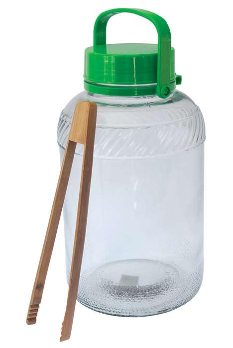 Nakládací nádoba 8 L sklo + kleště