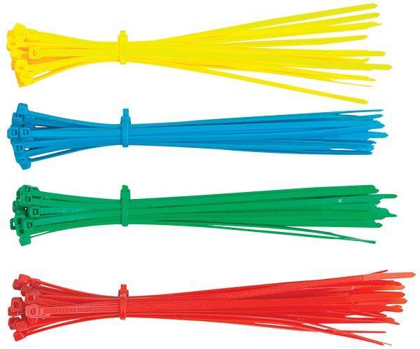 Vázací, stahovací páska do domácnosti 100 ks, 3,6 x 200 mm