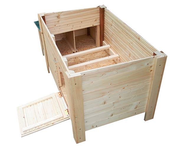 Kurník dřevěný pro slepice a kachny F123