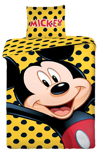 Mickey yellow - bavlna 1 + 1