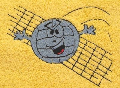 Ručník 50x100 cm volejbal, terakota