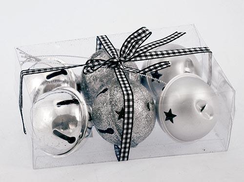 Rolničky stříbrné v dárkové krabičce s mašlí
