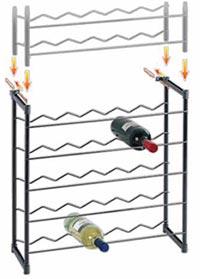 Stojan na víno CHIANTI 30 lahví - kovový černý